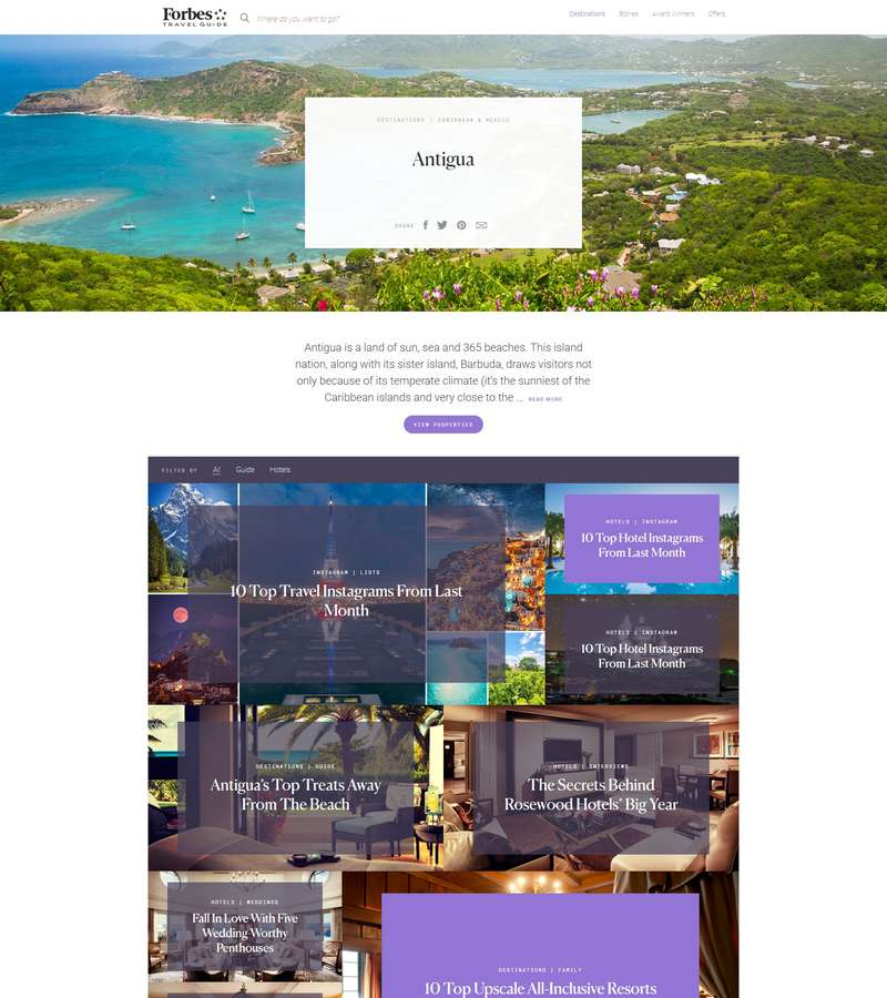 Antigua Forbes Travel Guide